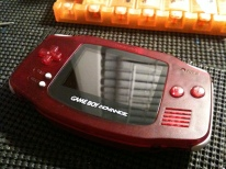 Clear red GBA mod with clear red buttons